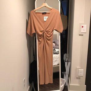 Kittenish blond/ brown bodycon dress